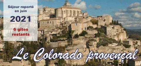 Escapade au cœur du Colorado provençal – Reportée en juin 2021